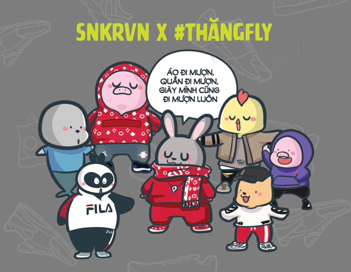 SNKRVN x Thăng Fly